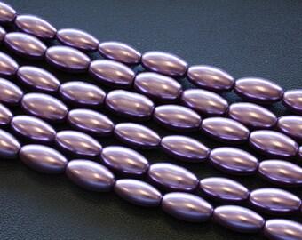 16x 8MM Rice Glass Pearls