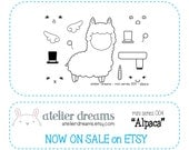 ALPACA - MINI - Planner Stamps (Photopolymer Clear Stamps) Erin Condren and InkWell Press, alpaca stamp