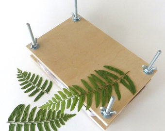 """FREE US SHIPPING- Leaf or Flower Press- 8.5""""x5.5"""", made of pine"""