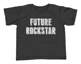 Future Rockstar Kids T-Shirt - Rock Star Rock and Roll Kids Shirt - Youth and Toddler Sizes - 2T-Youth Large