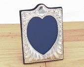 Silver Photo Frame, Silver Picture Frame With Heart Shaped Photo Insert Hallmarked - No. 23