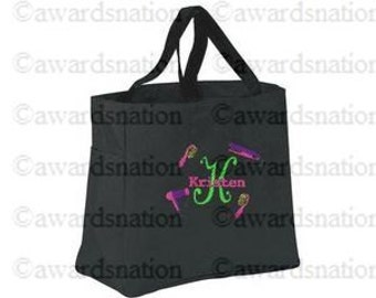 Personalized Embroidered Hair Stylist Tote Bag Custom Monogrammed Salon Bag