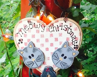 Cat ornament, ornaments, kitchen ornament, christmas tree, christmas decor, holiday ornaments