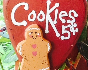 Gingerbread ornament, country ornament, primitive ornament, christmas ornament, christmas gift tag, gingerbread gift tag, holiday gift tag