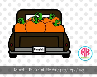 Pumpkin Truck Cut File .png/.dxf/.eps/.svg