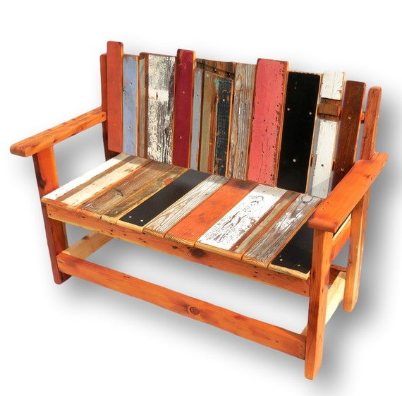 Reclaimed Wood Bench Rustic Wood Bench Entryway Bench