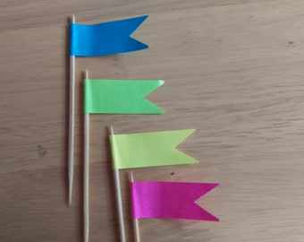 Paper Flag Cupcake Toppers