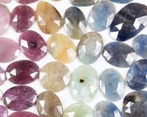 Rainbow Sapphire Slice Multi Color Rose Cut Cabachon Slice Loose Gemstones  - Random 5 Carat Scoop - raw sapphire