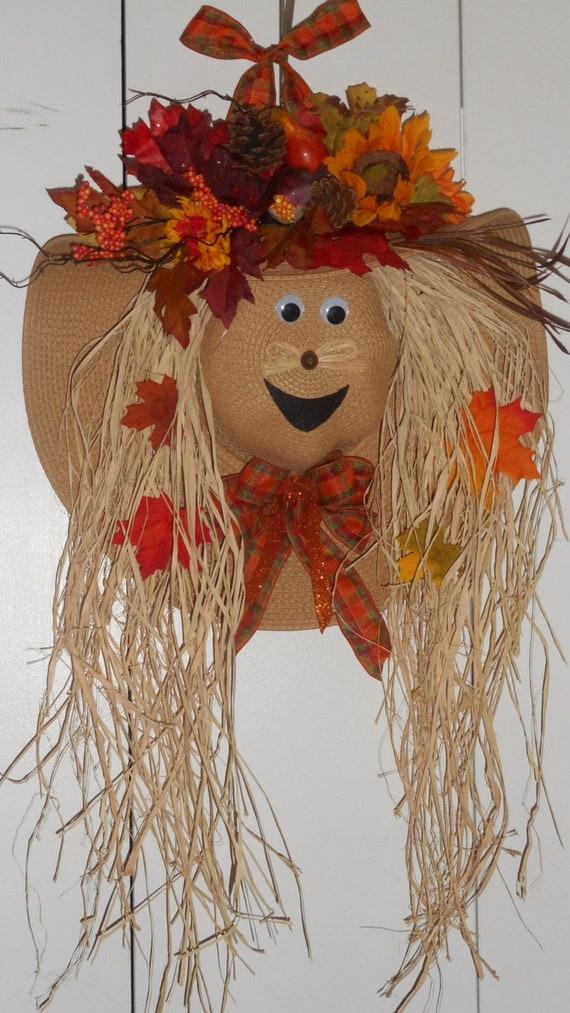Scarecrow Hat Wreath  Scarecrow Hat W...
