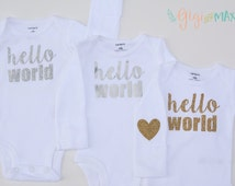 Baby girl or boy going home shirt - choose your own design - hello world, baby shower gift, coming home outfit new baby going home outfit