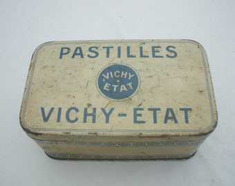 French vintage Vichy advertising tin - 1950's