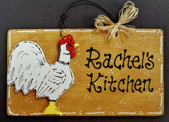 Chicken Printable Quotes: Rooster OVERYLAY Personalized Name KITCHEN SIGN Decor Wood