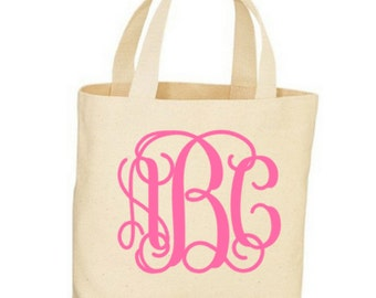 Personalized Bridesmaid Canvas Totes