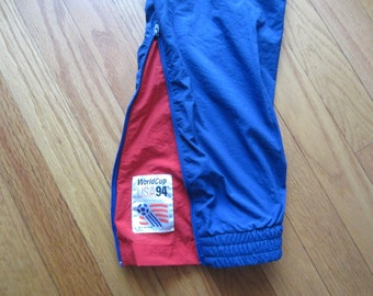 Vintage World Cup USA 1994 Lined Wind Pants