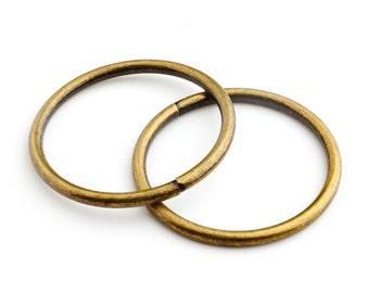 35mm Metal O-ring, Non-welded - Antique Brass (Qty 25)