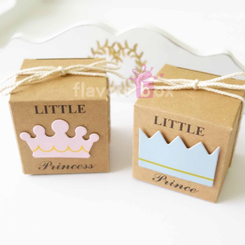 20x Little Prince Princess Favour Boxes 5 cm 2