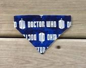 Small Slip Over the Collar Dog Bandana- Doctor Who