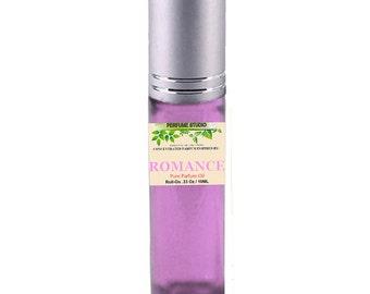Our Premium Custom Blend Perfume Oil with Similar Base Notes of RL Romance Perfume for Women in a 10ml Purple Glass Roller Bottle