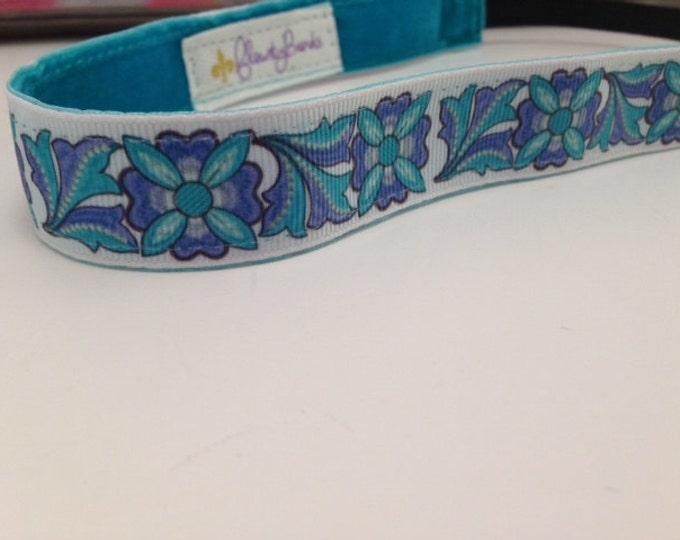 Nonslip Headband; Blue Garden