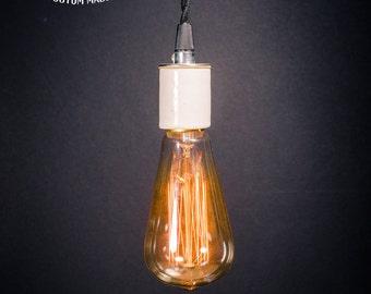 bare bulb lighting. edison bare bulb porcelain pendant light industrial style lighting l