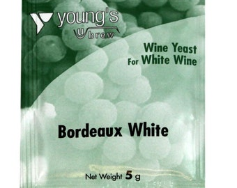 Young's Bordeaux White Wine Yeast 5g Winemaking homebrew