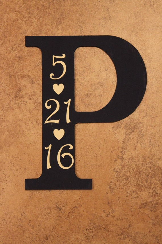 Painted Letter With Date