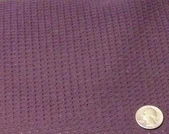 Aubergine Eggplant Purple Waffle Texture Brocade Fabric-By-The-Yard