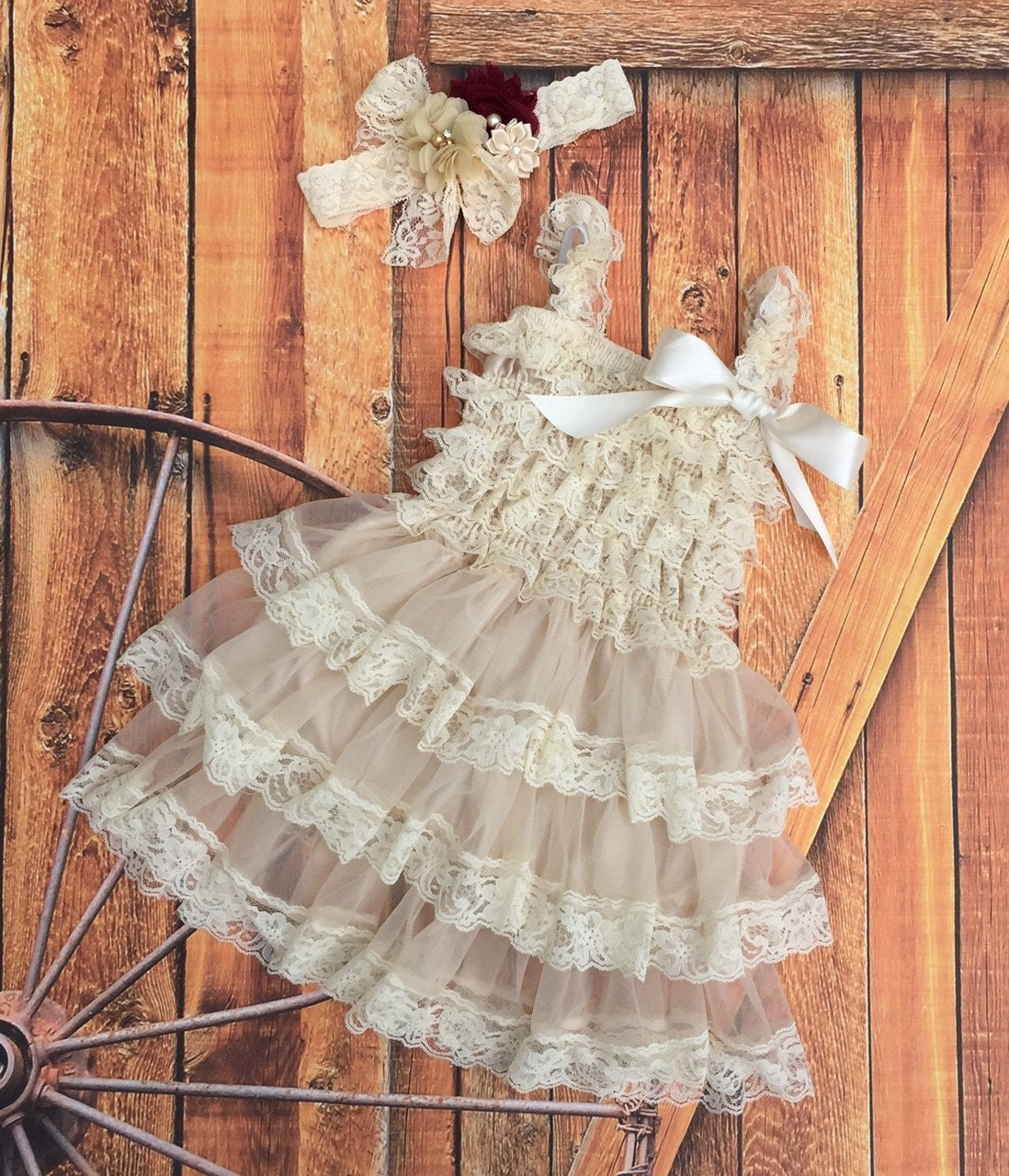 Flower girl dress Rustic flower girl dress by KadeesKloset