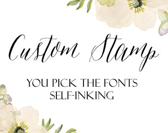 Custom Pre-Inked Stamp, Design Your Own Stamp, You Design It, Personalized Stamp, Custom Stamp