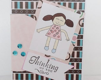 Thinking Of You Card, Greeting Card, Card for her