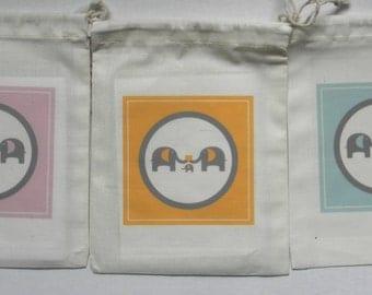 Baby Shower Favor Bags, Elephant Favor Bags, Elephant Baby Favor Bags, Baby Shower Party Favors, Elephant Baby Shower bag, Elephant Gift Bag