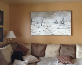 SALE 50% - Winter scene