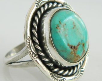 Beautiful Vintage Turquoise Sterling Silver Ring