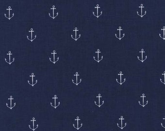 """Anchor Fabric - Anchors Away in Navy by Michael Miller Fabrics - 20"""""""