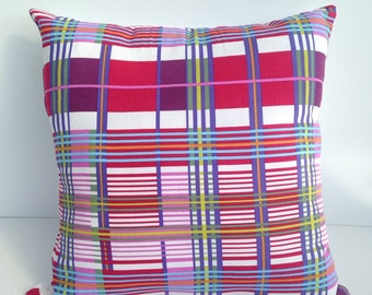 "18"" grid cushion covers"