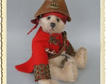 Little Pirate, 21 cm blond sparse mohair bear