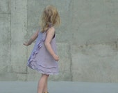 Girls Summer Beach Dress with Lavender Layers