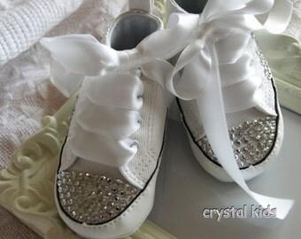 baby girl white converse