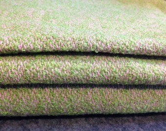 Suit Length of Vintage Green Donegal Tweed with Pink Flecks
