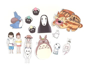 Studio Ghibli Inspired Stickers Set | Totoro Stickers | Spirited Away Stickers | Cute Stickers | Stickers Set | Miyazaki Stickers | Japanese