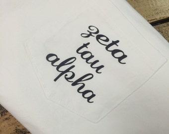 Zeta Tau Alpha Comfort Colors Pocket Tee