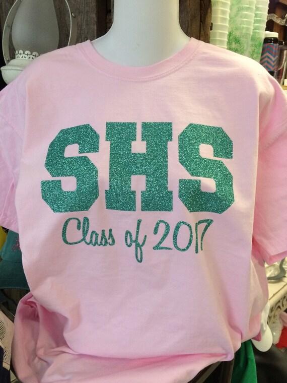 Custom comfort colors short sleeve high school class shirts for Custom high school shirts