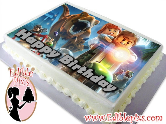 Edible Cake Images Arndell Park : Lego Jurassic World Edible Image Cake Topper by Edible Pix s