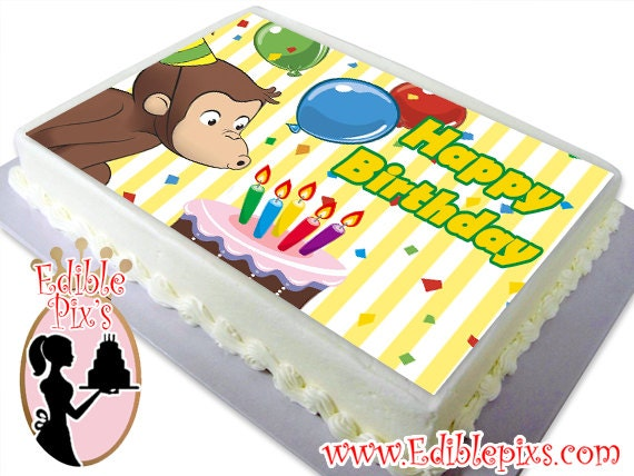 Edible Cake Images Curious George : Curious George Edible Image Cake Topper by Edible Pix s