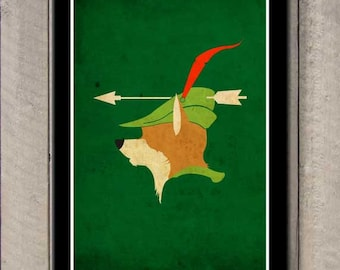 Vintage Disney movie poster - Robin Hood