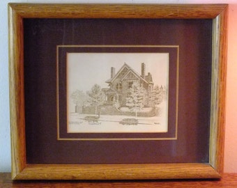 Pen and Ink Lithograph - The Molly Brown House, Denver Colorado by Markay