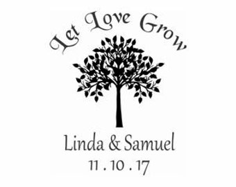 Let Love Grow Custom Stamp - C684