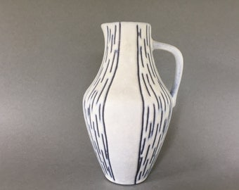Steuler 4235 / 0 Mid Century modern stylish handled vase 1950s / 1960s West Germany Pottery.  WGP.