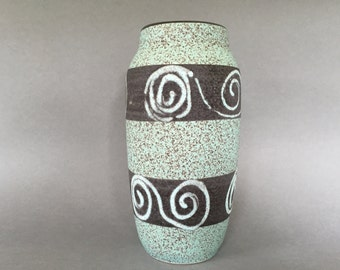 Scheurich  242  -  22 stylish Vintage Mid Century Modern Vase  1960s West Germany Pottery . WGP.