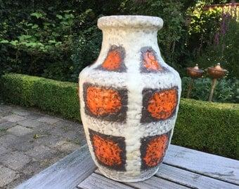 Bay Keramik 566 - 30 tall Vintage Mid Century 1960s / 1970s Vase West Germany Pottery. Tall WGP vase.